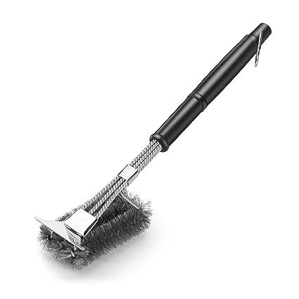 Amazon.com: Cepillo y rascador para parrilla de barbacoa MIU ...