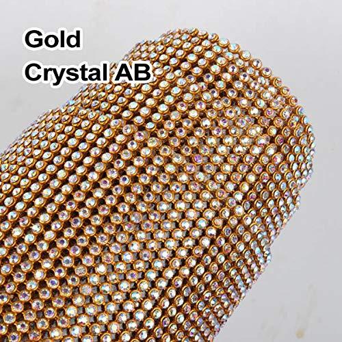 Astonish 24Rows / 36Rows / 48rows Maglia del Rhinestone Base in Alluminio SS8 crystalAB con per l'indumento: CrystalAB, 24rows