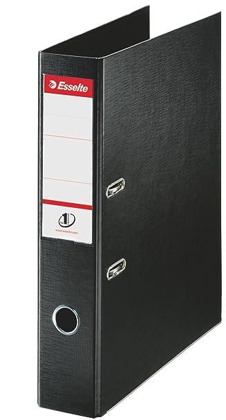Esselte 48087 - Archivador de palanca (tamaño folio, PVC, lomo 70 mm, 10 unidades), color negro: Amazon.es: Oficina y papelería