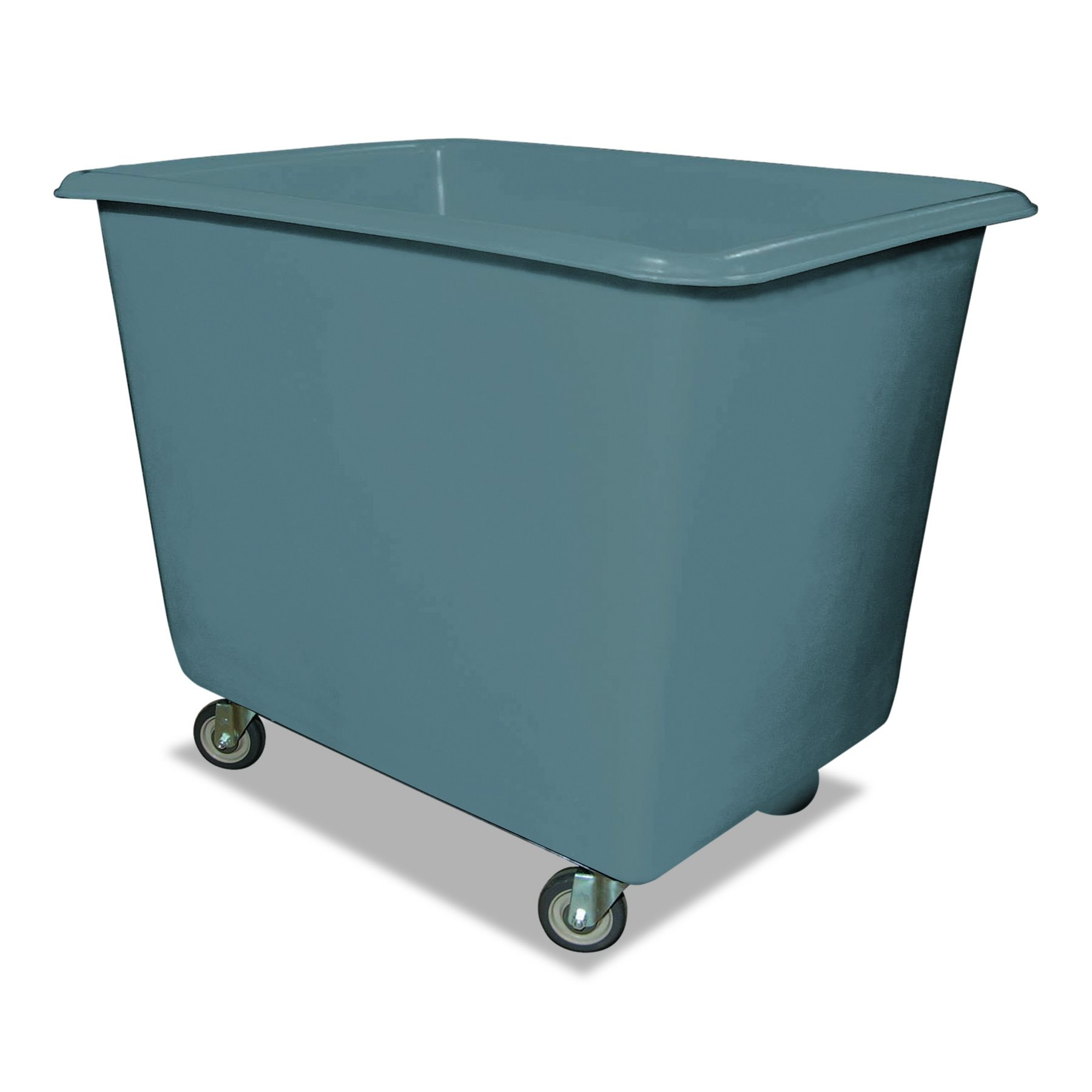 Royal Basket Trucks R8GRXPGA4UN 8 Bushel Poly Truck with Galvanized Steel Base, 26'' x 38'' x 28 1/2'', 800 lb. Cap, Gray