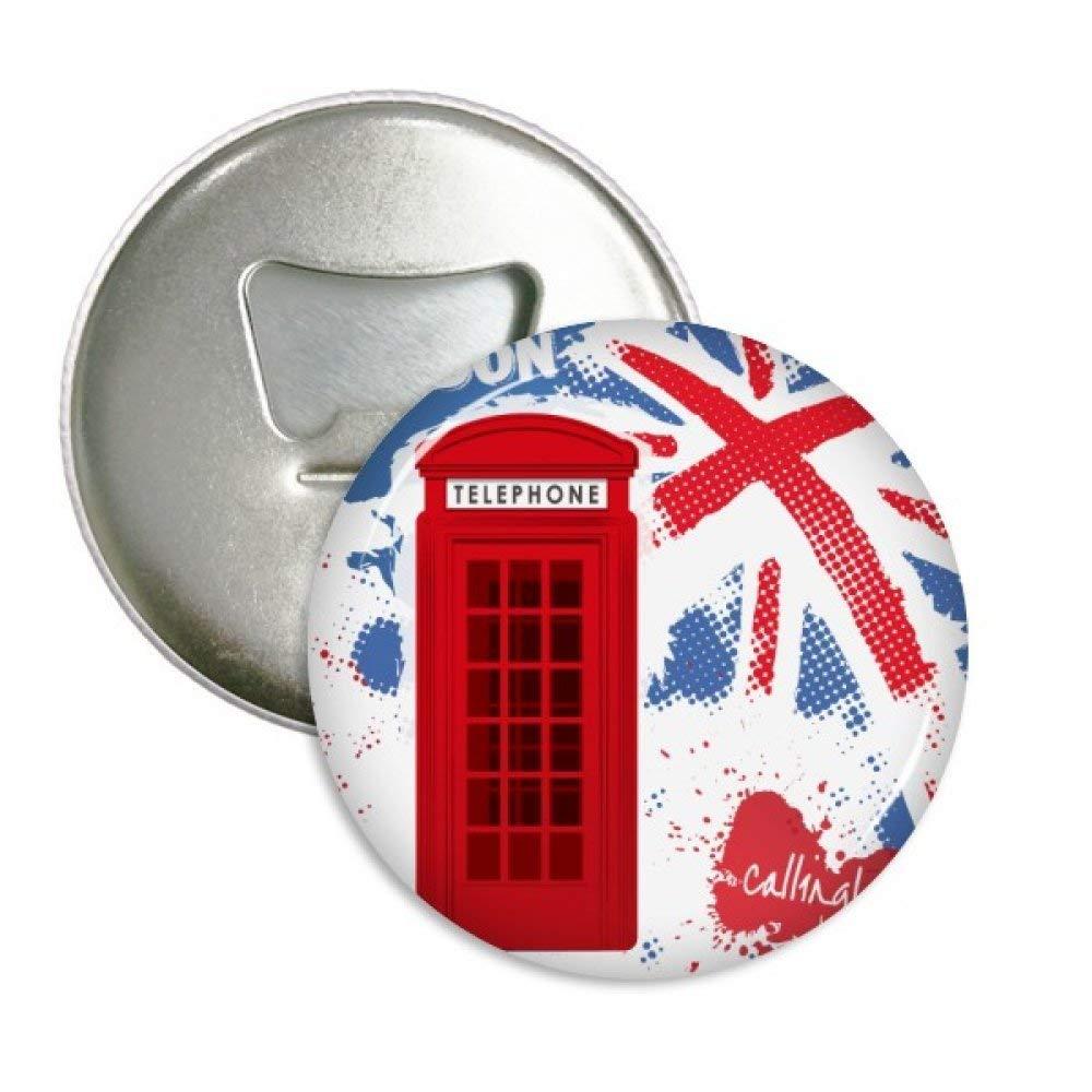 Gran Bretaña Reino Unido Bandera de Londres Cabina telefónica roja ...