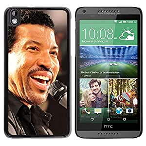 Beautiful Designed Cover Case With Lionel Richie Microphone Smile Singing Face For HTC Desire 816 Phone Case