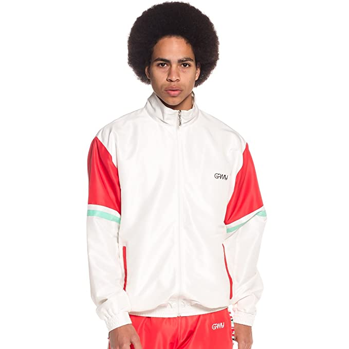 Grimey Track Jacket MANGUSTA V8 SS18 White: Amazon.es: Ropa ...