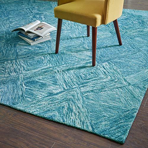 Rivet Motion Modern Patterned Wool Area Rug, 8' x 10' 6