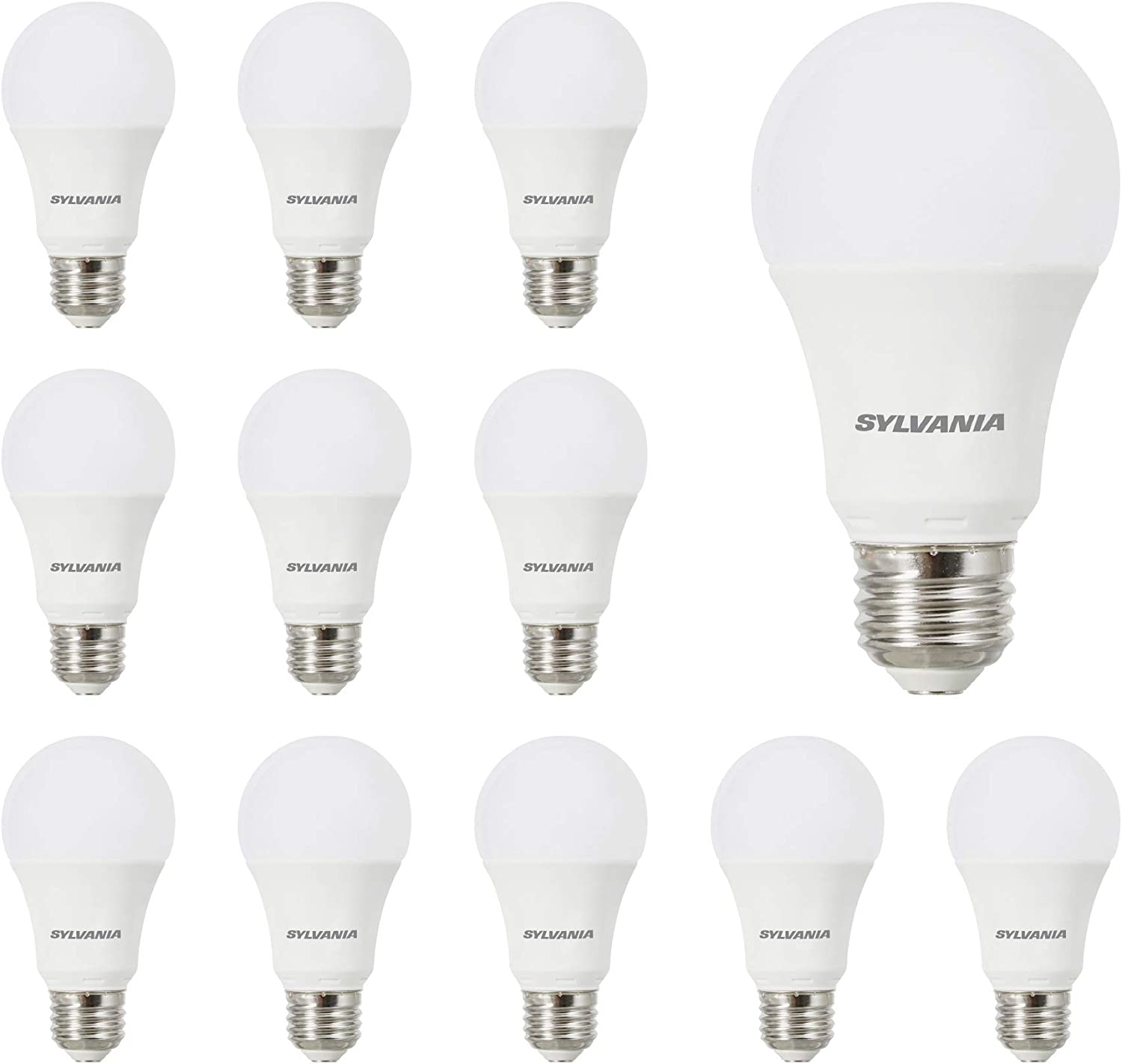 SYLVANIA General Lighting 40205 14 (100W Watt Equivalent), A19 Daylight Non-Dimmable 12 Pack LED Light Bulb
