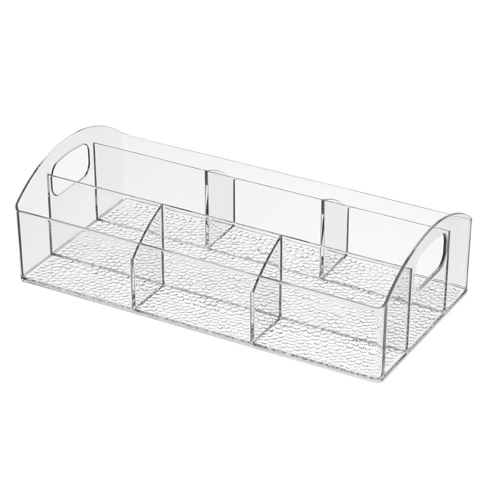 InterDesign Med+ - Makeup and Medicine Cabinet Catch All Organizer - Clear - 12 x 6 x 3.5 inches