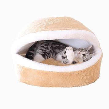 Cama De Gato Invierno Mantener Caliente Puede Ser Lavables Tipo Cerrado Saco De Dormir De Gato Cuatro Estaciones Acogedor Gatito Cojín Casa del Gato ...