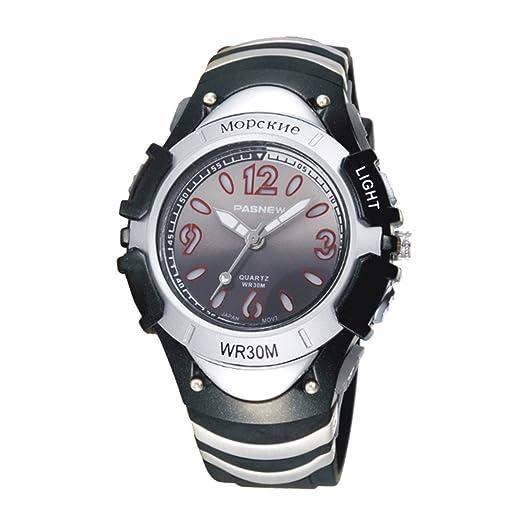 Reloj de pulsera para niños, resistente al agua, deportivo, analógico, digital, LED, retroiluminación, reloj de pulsera para niños 316G: Amazon.es: Relojes