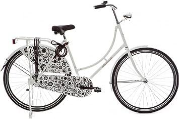 """Highlander - Bicicleta holandesa 28"""" blanca y negra: Amazon.es ..."""