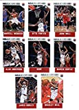 2015-16 Panini NBA Hoops Washington Wizards Veterans Team Set of 8 Cards: Bradley Beal, Jared Dudley, Alan Anderson, Nene, Marcin Gortat, Martell Webster, Otto Porter, John Wall in Protective Snap Case