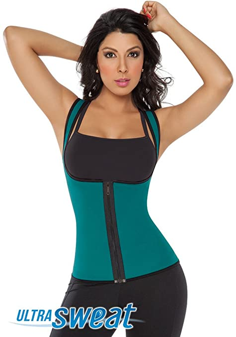 8f7f07a431 Fajate 8002 -Chaleco Ultra Sweat Dama   Sweat Enhancing Thermal Vest  Reversible (Green
