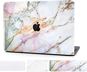 Laptop Case for Mac Pro 15 Inch Keyboard Cover Plastic Hard Shell Touch Bar 4 in 1 Bundle with Screen Protector for MacBook Pro 15 Inch (Model:A1707/A1990),Star Marble