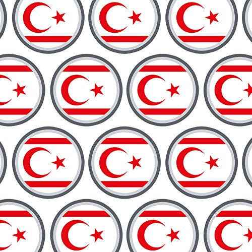 Premium Gift Wrap Wrapping Paper Roll Country National Flag T-Z - Turkish Republic of Northern Cyprus Country Flag