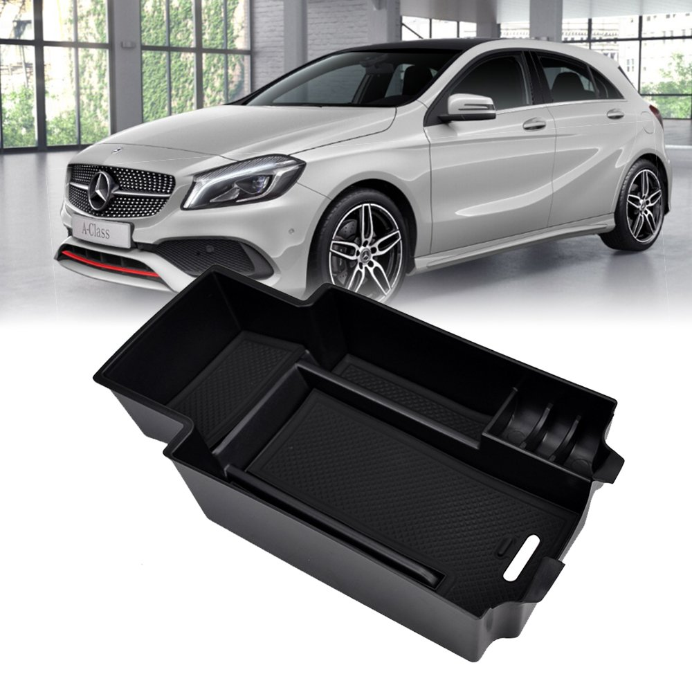 LITTOU Centre Console Armrest Storage Box Glove Box Insert Organiser Tray Accessory for A260 A200 B180