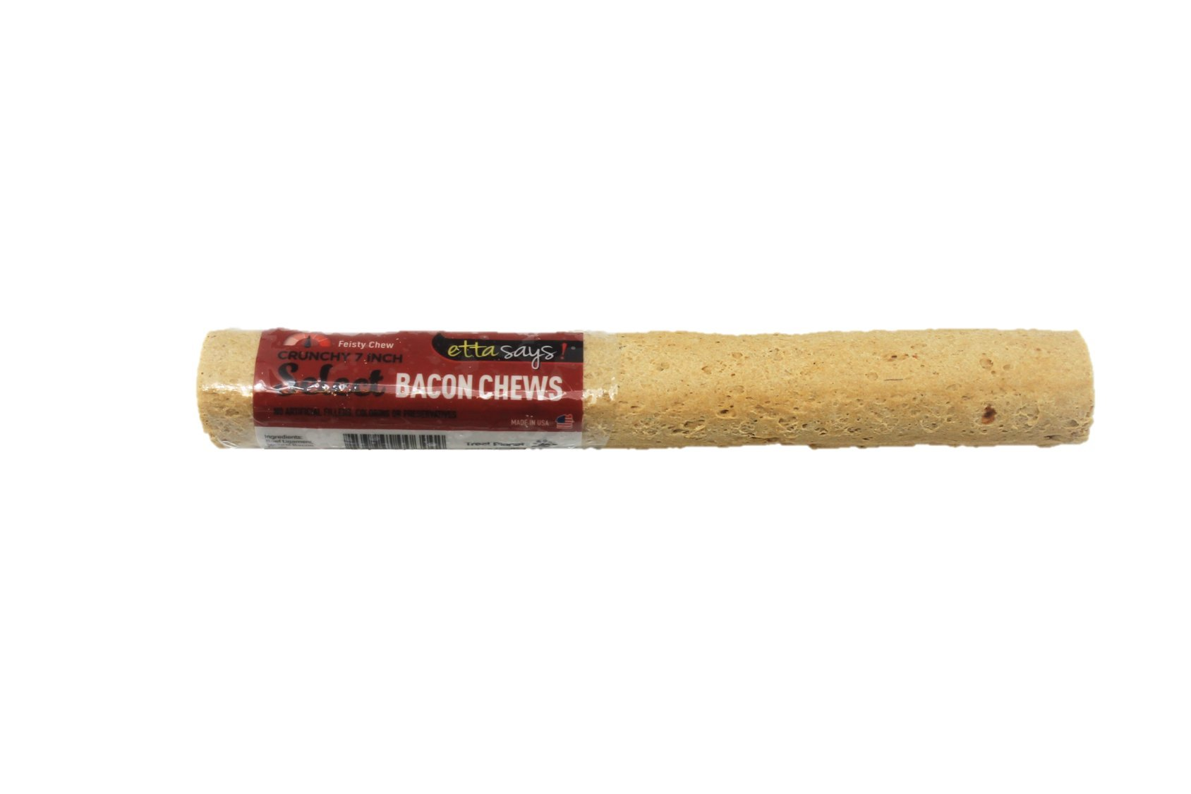 Etta Says! Bacon 7 Inch Chew Select - All Natural, Grain Free Dog Treat, Chew, Only Two Ingredients, Usa Made
