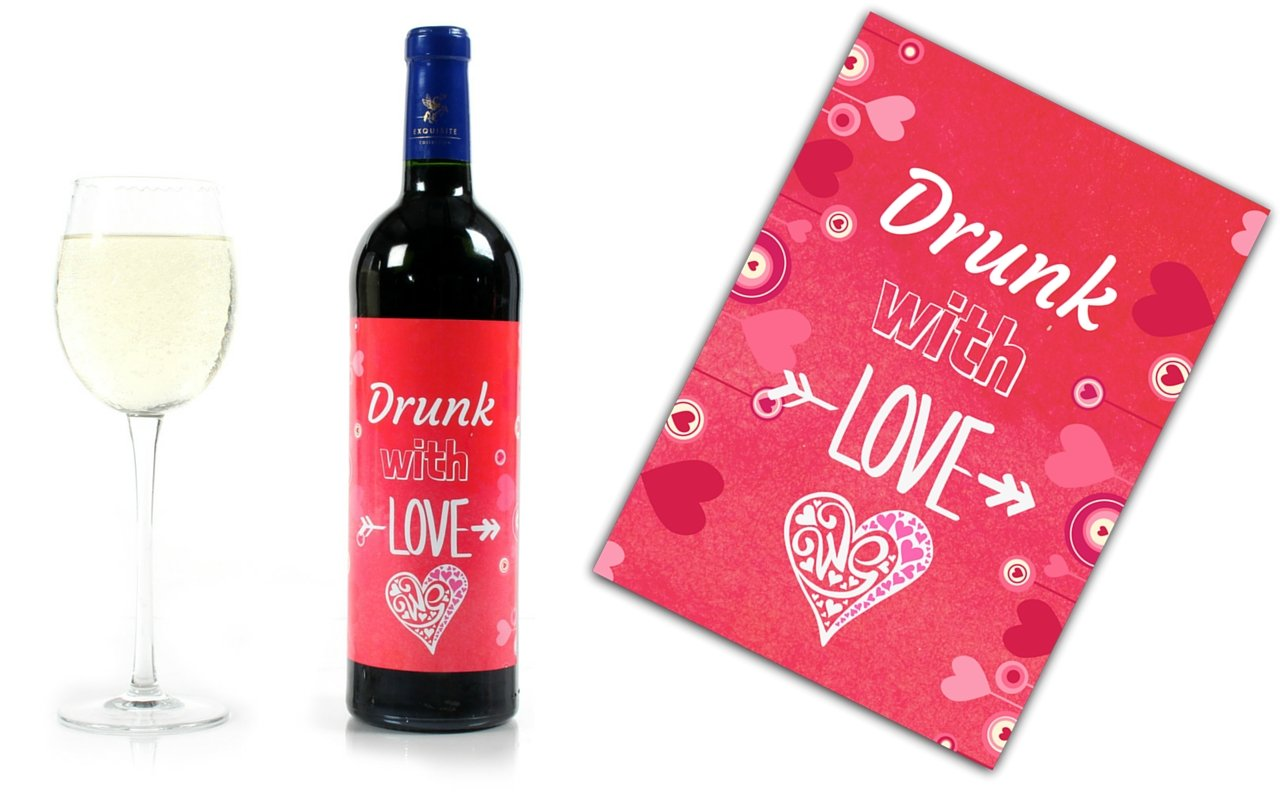 Amazon.com | Wine Bottle Wedding Labels for Engagement Party ...