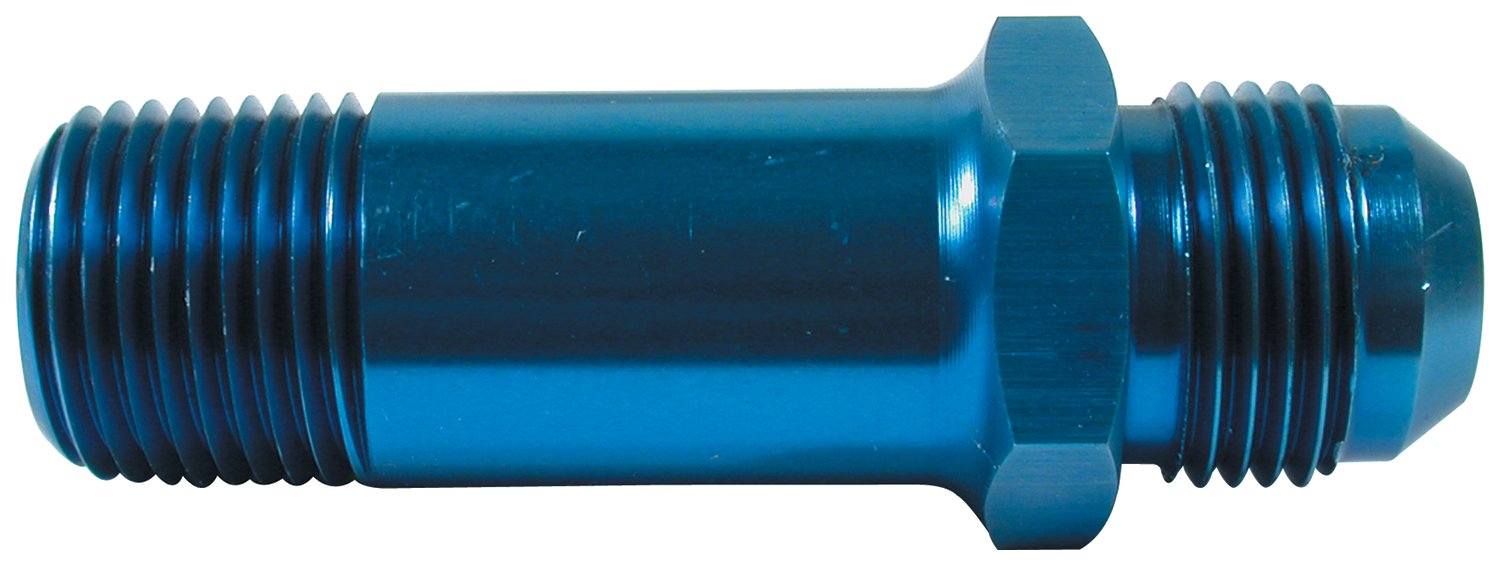 Allstar ALL90043 Black Anodized Aluminum 3' Length Oil Inlet 10AN Male to 1/2 NPT Male Fitting Allstar Performance