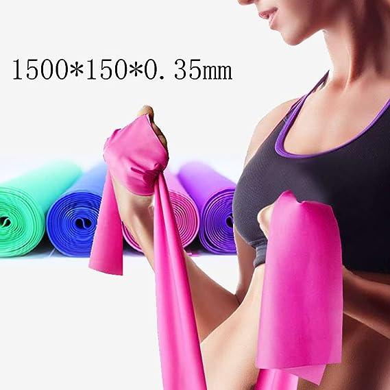 Verde LIOOBO Fitness Bandas el/ásticas para musculaci/ón F/ísica Ejercicios el/ásticos Ejercicios de Fuerza para Fisioterapia