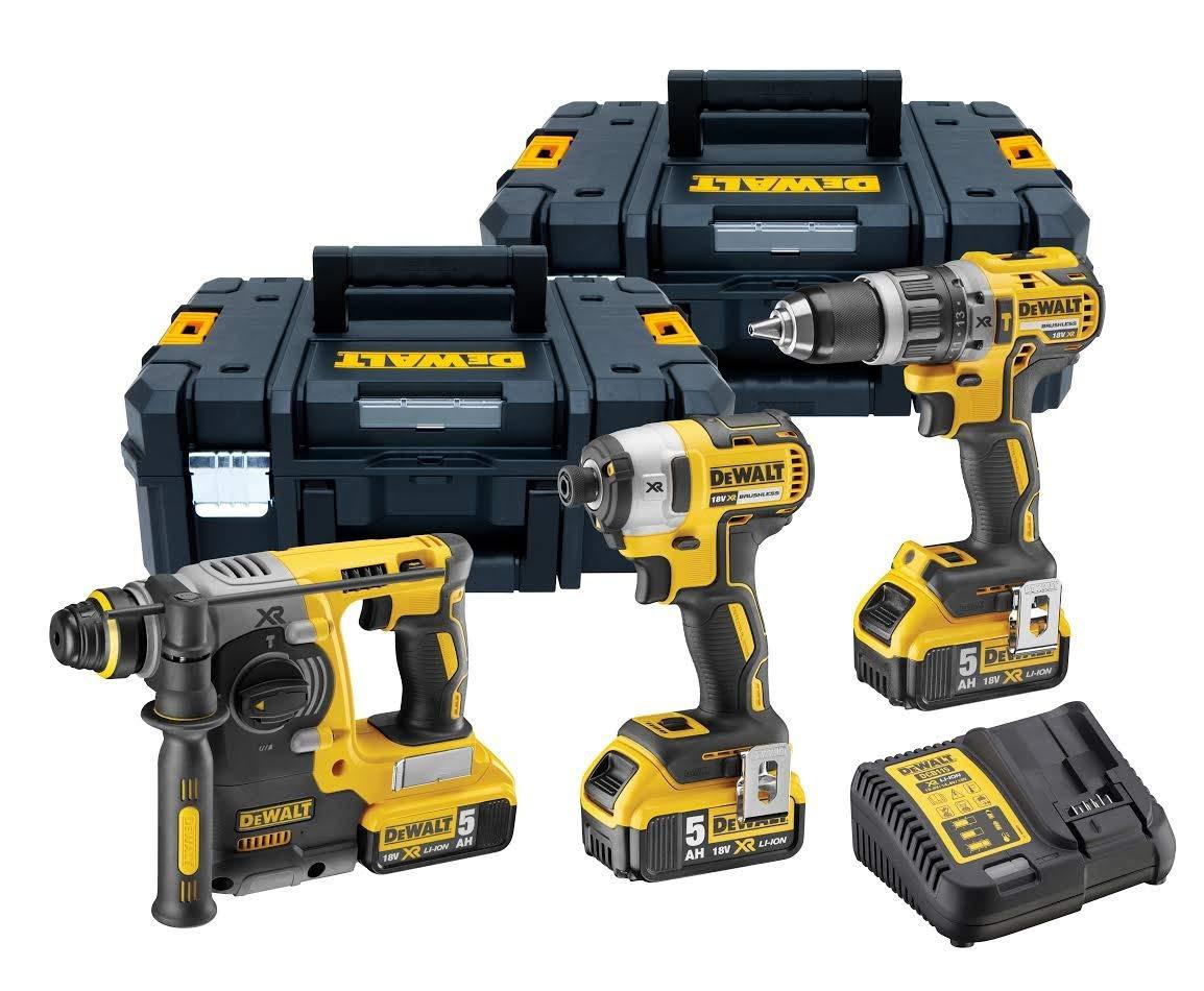Dewalt DCK368P3T Triple Kit, 18 V, Yellow, 27 x 32 x 15
