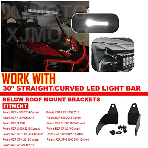 For 30'' LED Light Bar Below Roof Mounting Brackets Fits Polaris RZR XP 1000 900 Models by XJMOTO (Image #1)