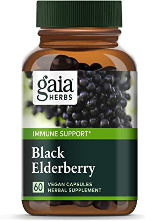 Gaia Herbs Vegan Organic Black Elderberry Extract for Daily Immune and Antioxidant Support
