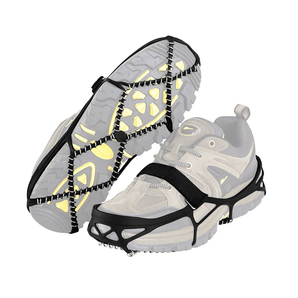 Newdora Traction Cleats Ice Snow Grips for Walking, Jogging, or Hiking On Ice, Snow, Mud And Wet Grass Or Other Poor Conditions Footwear S/M/L(US 6~9.5)