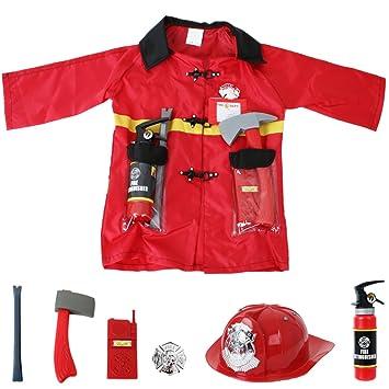 Veste De Déguisement Pompiers Enfant Matériel 8 Pièces Service Petit PdHqwOx7H