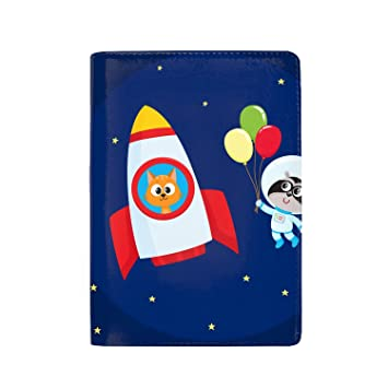 Cute And Funny Santa Claus Leather Passport Wallet for Passport Holder for Safe Trip durable Easy to Carry