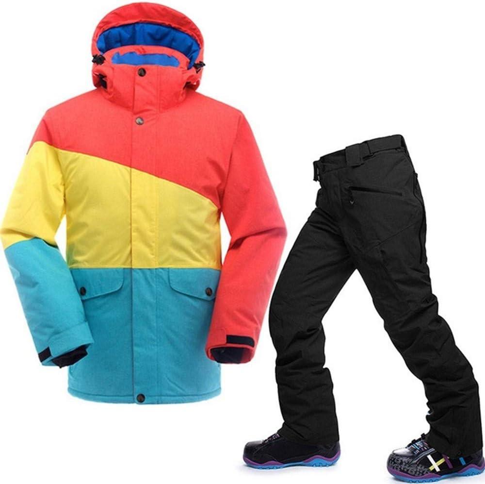 QZHE Traje de esqui Traje De Esquí Impermeable para Hombre ...