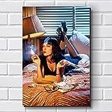 Placa Decorativa em MDF com 20x30cm - Modelo P264 - Pulp Fiction