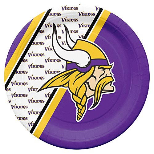 NFL Minnesota Vikings Disposable Paper Plates, Pack of -