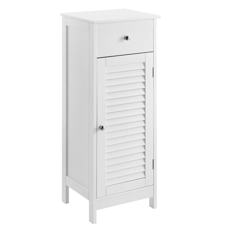 [en.casa] Badezimmerschrank Weiß - 87 x 30 x x x 30cm - Badschrank Standschrank Schrank Kommode 6cf3a7