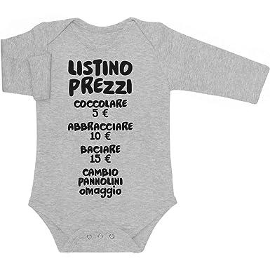 eedd3786914fcb Shirtgeil Baby Bambini Listino Prezzi - Idee Regalo Body Neonato Manica  Lunga: Amazon.it: Abbigliamento