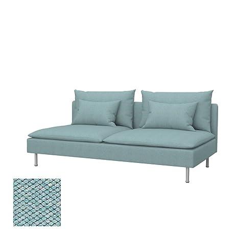 Soferia - IKEA SÖDERHAMN Funda para sofá Cama, Nordic Sea ...