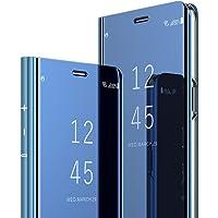 Kompatibel mit Samsung Galaxy S9 Plus Hülle Mirror Case Spiegel Handyhülle PU Leder Flip Case Cover Handy Schutz Echtleder Tasche Schutzhülle für Galaxy S9/S9 Plus