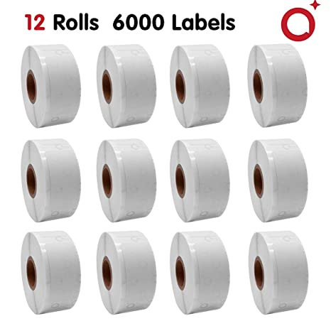 """10 Roll Labels 1/"""" x 2-1//8/"""" for DYMO 30336 LabelWriter 400 450 Twin Turbo Duo"""