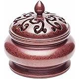 TAIJI 太吉 时来运转宣德形 香炉 黄铜材质 茶道香炉 质感优良 赠天然艾草香24盘(约2小时/盘) 天然原料 净化空气 修身养性