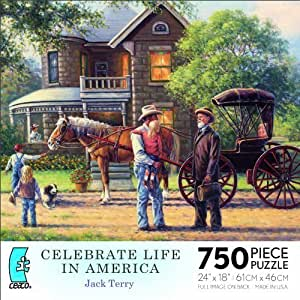 Celebrate Life in America by Jack Terry 750 Piece Puzzle MADE IN USA PUZZLE