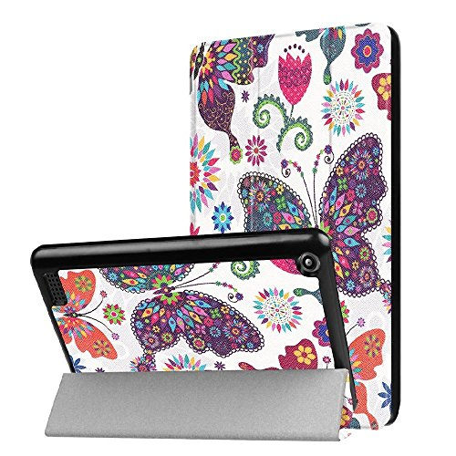 2017 Kindle Fire 7 Case,Kindle Fire 7 inch Case,Fire 2017 Tablet Case,Fire 7th 2017 Case,Ultra Slim Smart Lightweight Leather Cover for Fire HD 7 Inch Display Tablet (2017 Release Only)