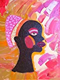 Original Contemporary Oil Paintings Modern Art of Africa Portraits African Women Black People Woman Kwanzaa Ethnic Culture Expressionist Artwork Impasto Pastel Colors