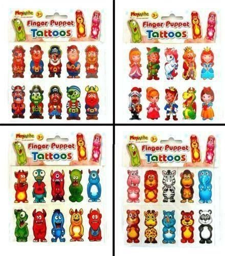 Price comparison product image Finger Puppet Tattoos - Pirate Design