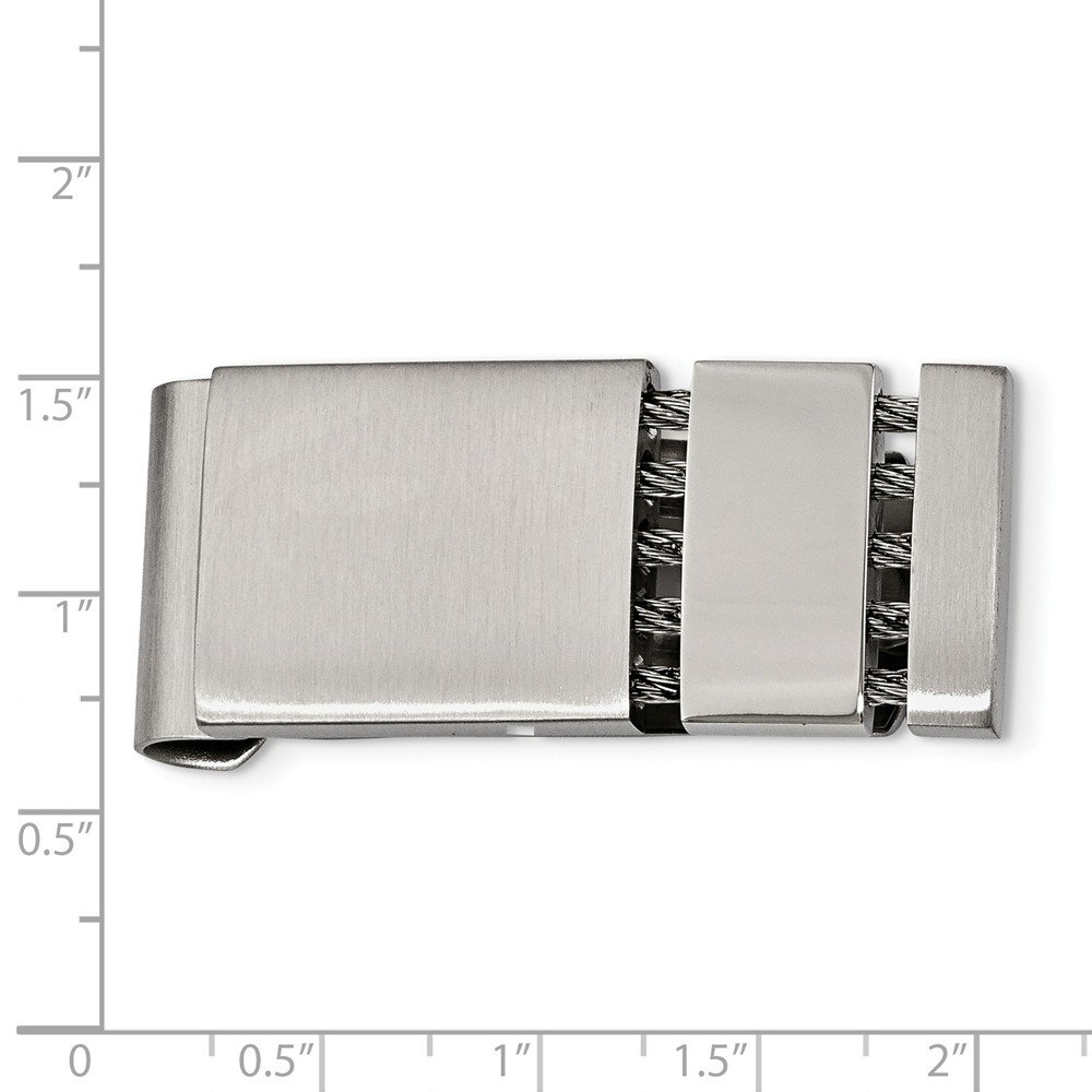 Stainless Steel Brushed Polished Money Clip Mens 18 mm 42 mm Money Clips Accessory
