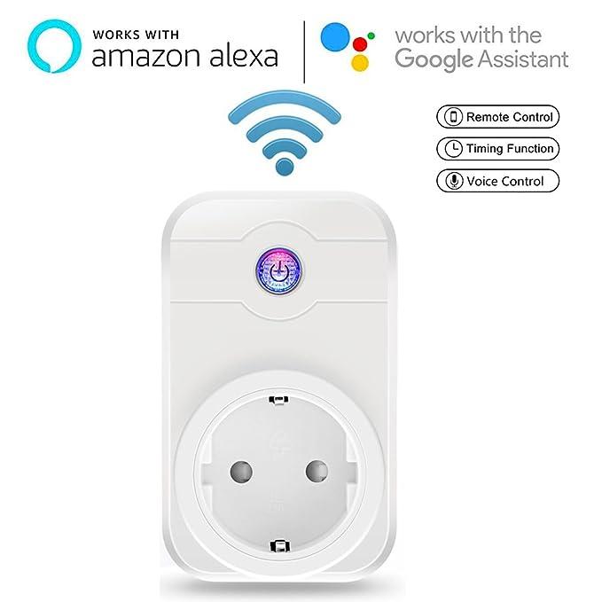 Meer Enchufe Inteligente WiFi Toma Smart Socket Interruptor Adaptador Eletrónico Control Remoto Inalámbrico con móviles de Android y iOS for hogar ...