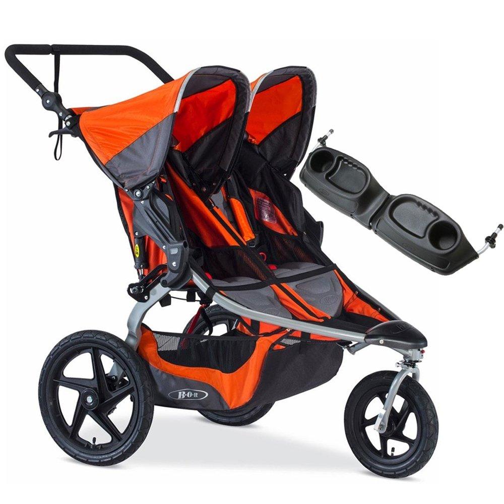 BOB - Revolution FLEX Duallie Double Stroller with Bag - Orange Silver by BOB