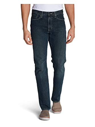 a5a18dbc26f708 Eddie Bauer Men's Authentic Jeans - Straight Fit, Dk Heritage Regular 30/32