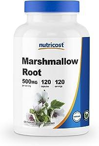 Nutricost Marshmallow Root 500mg, 120 Veggie Capsules - Gluten Free & Non-GMO