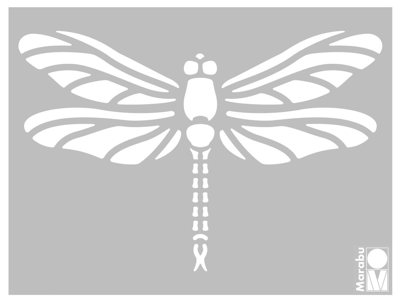 Dragonfly Marabu 0280000000013-3D Schablone 15 x 20 cm