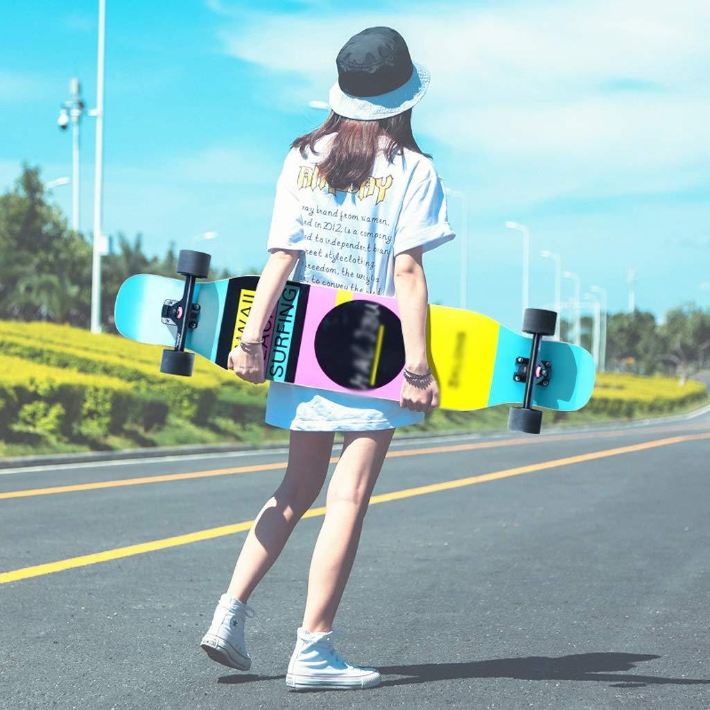 有名ブランド DUWEN スケートボードロングボード四輪スケートボード初心者男の子と女の子のブラシストリートダンスボードティーンエイジャープロのスクーター DUWEN (色 : : B) B B07NRQYNW5 B, サイカイチョウ:b5d81dd9 --- a0267596.xsph.ru