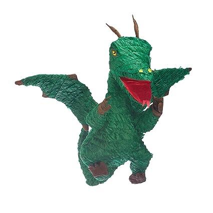 Amakando Piñata Cumpleaños Infantil | Piñata de Dragón Verde ...