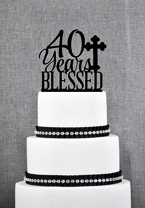 Decoración personalizada para tarta de 40 años, decoración ...